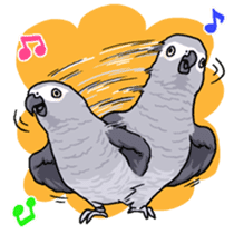 Fuku the Grey Parrot sticker #9542591