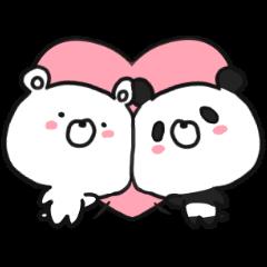 bear & panda with LOVE