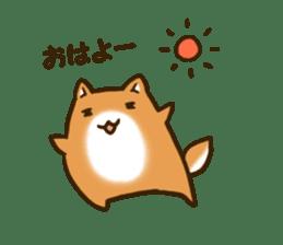 Cute Shiba Inu sticker sticker #9543328