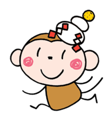 Saruta's Sticker by Chikako sticker #9544864