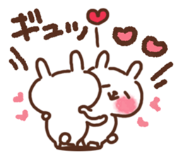Little rabbit/onomatopoeia Ver. sticker #9572833