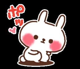 Little rabbit/onomatopoeia Ver. sticker #9572851