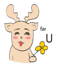 Happy Gay Deer V.3 sticker #9573166