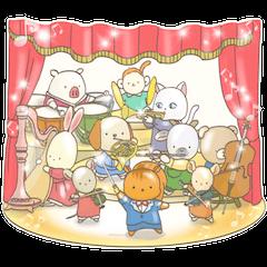 Cute bear and rabbit 5 by Torataro