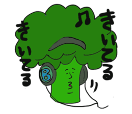 Funny vegetables and fruits sticker #9576561