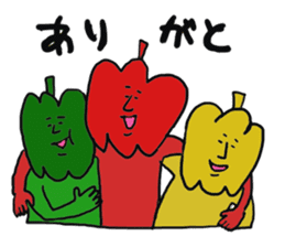 Funny vegetables and fruits sticker #9576572