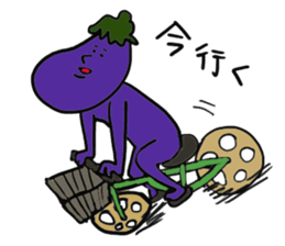 Funny vegetables and fruits sticker #9576576
