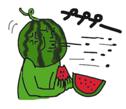 Funny vegetables and fruits sticker #9576584