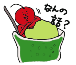 Funny vegetables and fruits sticker #9576585