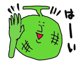 Funny vegetables and fruits sticker #9576587