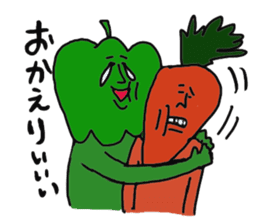 Funny vegetables and fruits sticker #9576589