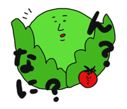 Funny vegetables and fruits sticker #9576593