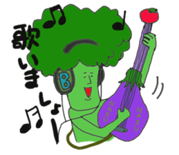 Funny vegetables and fruits sticker #9576598