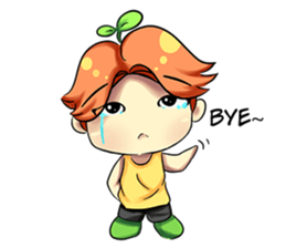Min Mini The Orange Boy sticker #9577041