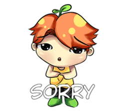 Min Mini The Orange Boy sticker #9577048