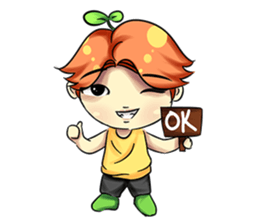 Min Mini The Orange Boy sticker #9577049