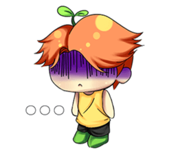 Min Mini The Orange Boy sticker #9577053