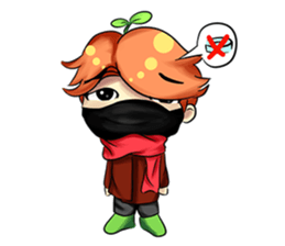 Min Mini The Orange Boy sticker #9577056