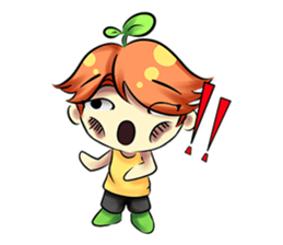 Min Mini The Orange Boy sticker #9577057