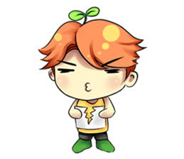 Min Mini The Orange Boy sticker #9577058