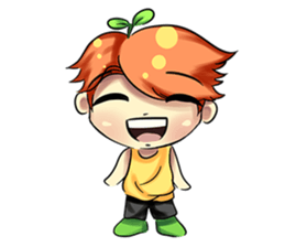 Min Mini The Orange Boy sticker #9577063