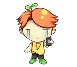 Min Mini The Orange Boy sticker #9577067
