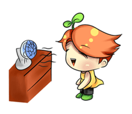 Min Mini The Orange Boy sticker #9577070