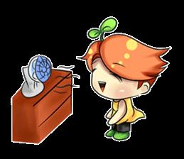 Min Mini The Orange Boy sticker #9577070