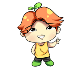 Min Mini The Orange Boy sticker #9577071