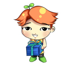 Min Mini The Orange Boy sticker #9577072