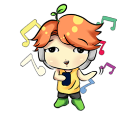 Min Mini The Orange Boy sticker #9577073