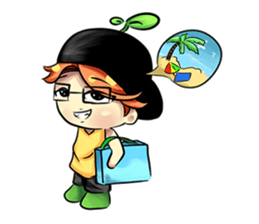 Min Mini The Orange Boy sticker #9577079