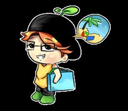 Min Mini The Orange Boy sticker #9577079