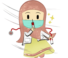 Medical Student (Hijab ver.) sticker #9584082