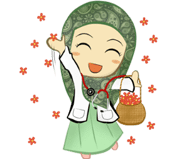 Medical Student (Hijab ver.) sticker #9584096