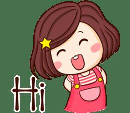 Choompoo pink 2 [Eng] sticker #9586889