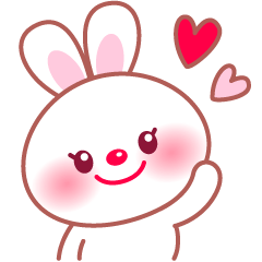 Adorable fluffy bunny