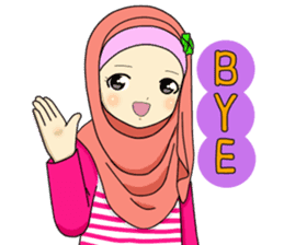Hana cute Hijab sticker #9594084