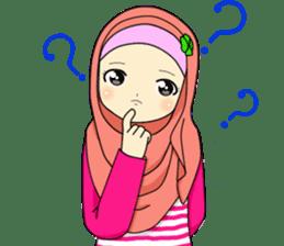Hana cute Hijab sticker #9594087