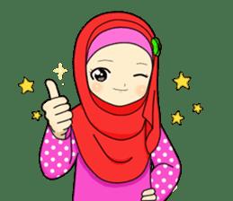 Hana cute Hijab sticker #9594097