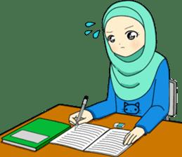 Hana cute Hijab sticker #9594113