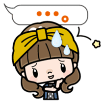 Cute girl with long hair (Chinese) sticker #9596735