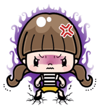 Cute girl with long hair (Chinese) sticker #9596741