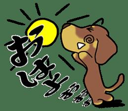 Dachshund Japan sticker #9604200