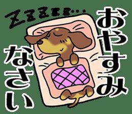 Dachshund Japan sticker #9604201