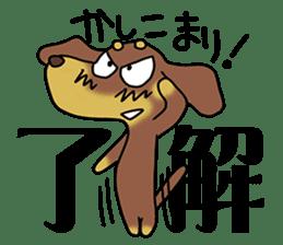 Dachshund Japan sticker #9604213