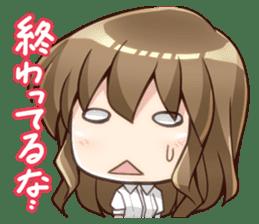 Girl who loves Anime Chibi-san Stickers2 sticker #9608015