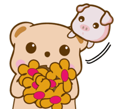 Bear and Piggy ''Cute sticker #9615467