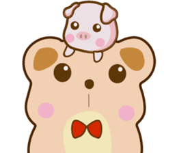 Bear and Piggy ''Cute sticker #9615472