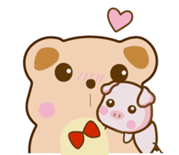 Bear and Piggy ''Cute sticker #9615474